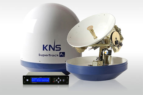 Antenne satellite KNS pour Internet en mer