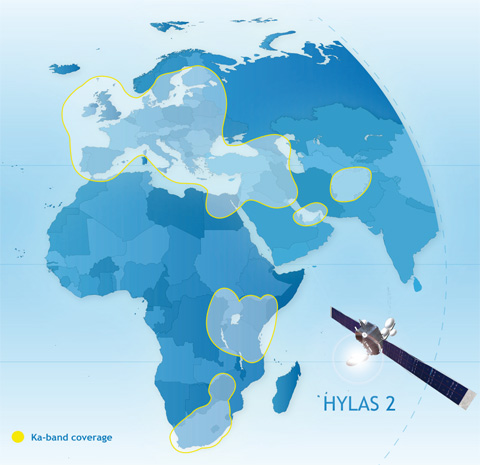 Couverture du satellite Avanti HYLAS 2