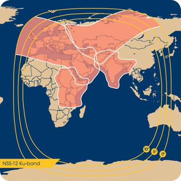 Couverture du satellite NSS-12